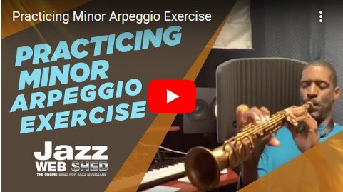 Practicing Minor Arpeggio Exercise