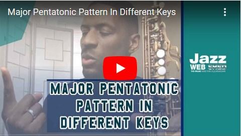Major Pentatonic Pattern In Different Keys